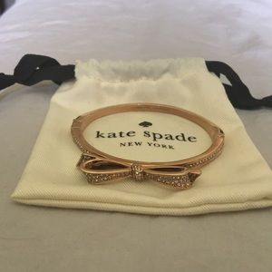 Kate Spade rose gold color metal bracelet. Unworn!